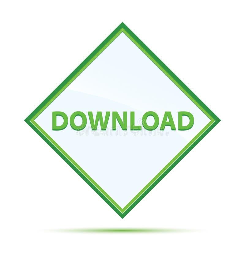 下载现代抽象绿色金刚石按钮 库存例证
