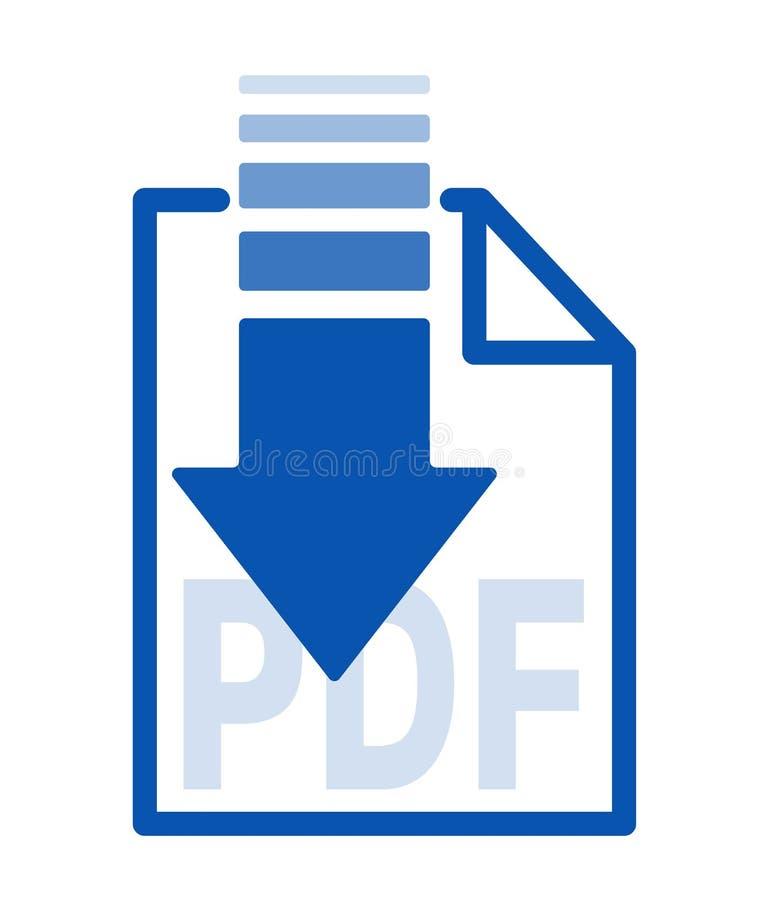 下载的完成文件,被隔绝的蓝色箭头象按钮 向量例证