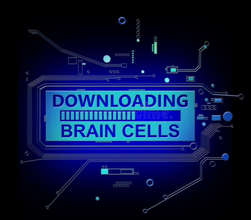 下载脑细胞 皇族释放例证