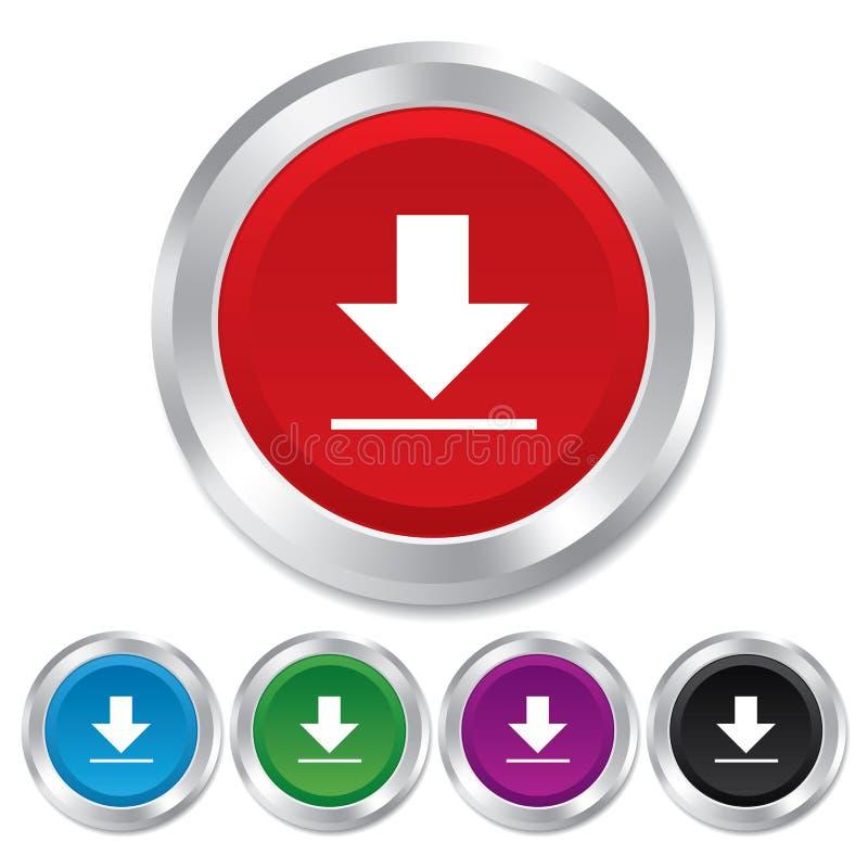 下载象。加载按钮。 皇族释放例证