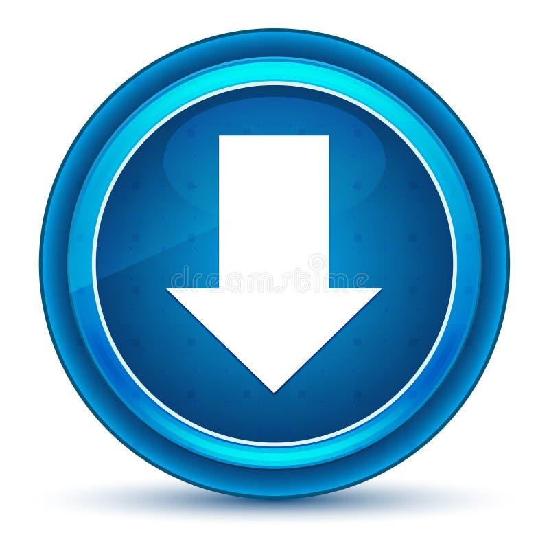 下载象眼珠蓝色圆的按钮 向量例证