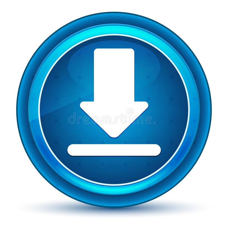 下载象眼珠蓝色圆的按钮 库存例证