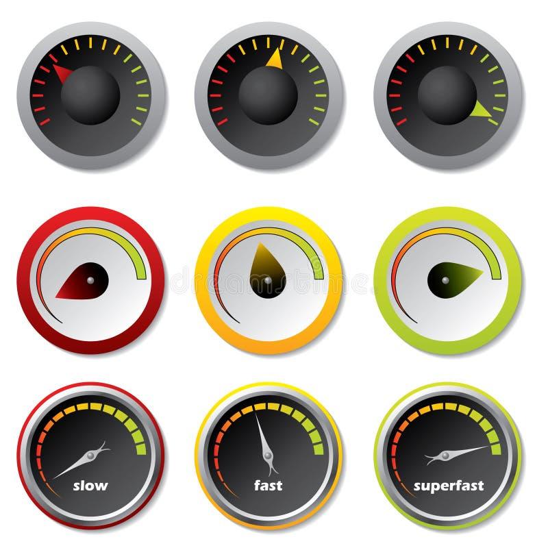 下载车速表 库存例证