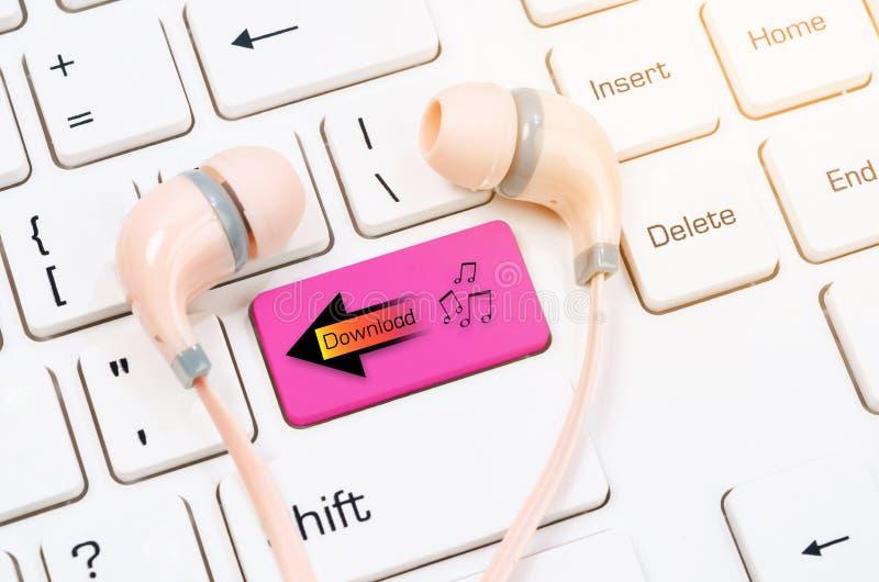 下载音乐的概念 库存图片