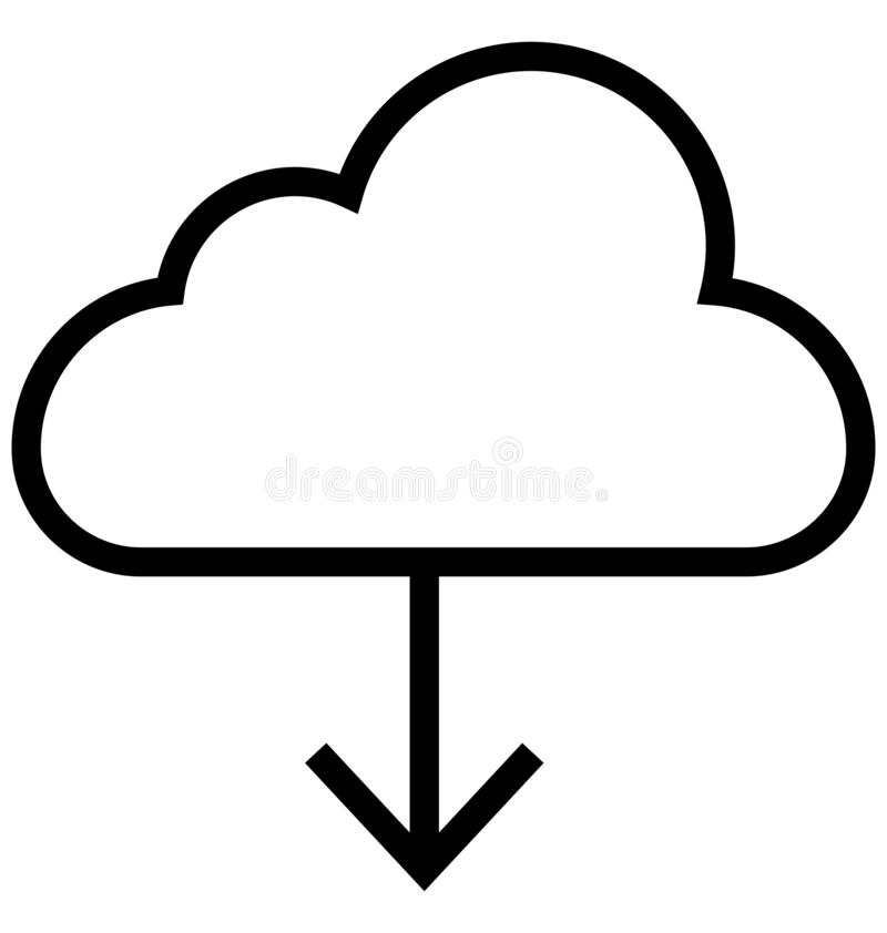 下载,云彩隔绝了可以容易地修改或被编辑的线传染媒介象 皇族释放例证