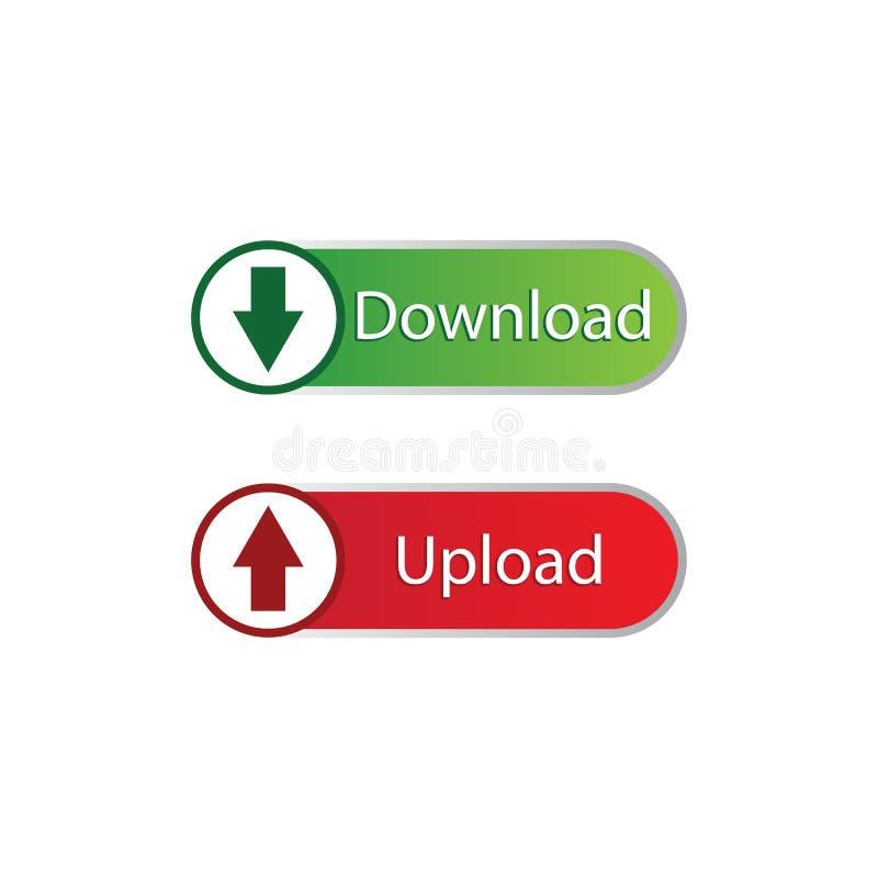 下载/加载按钮 向量例证