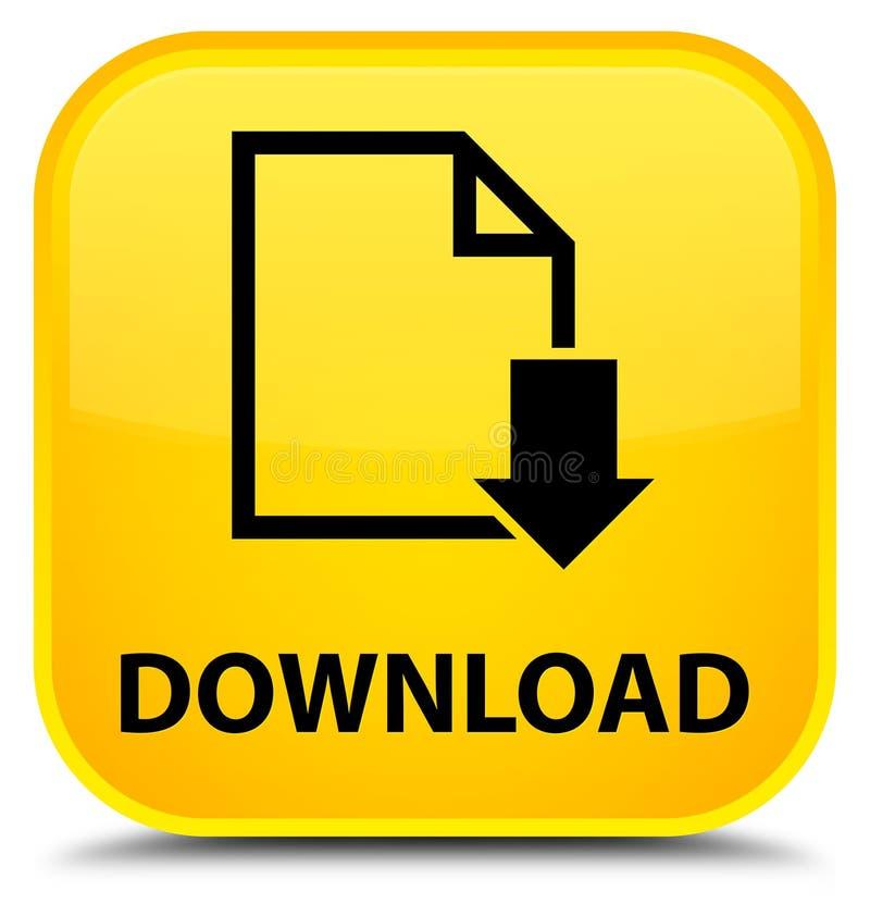 下载(文件象)特别黄色方形的按钮 向量例证