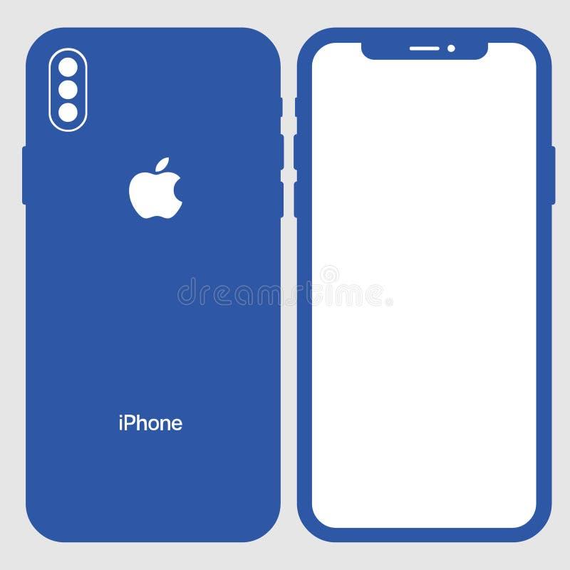 下载iphone 8传染媒介 皇族释放例证