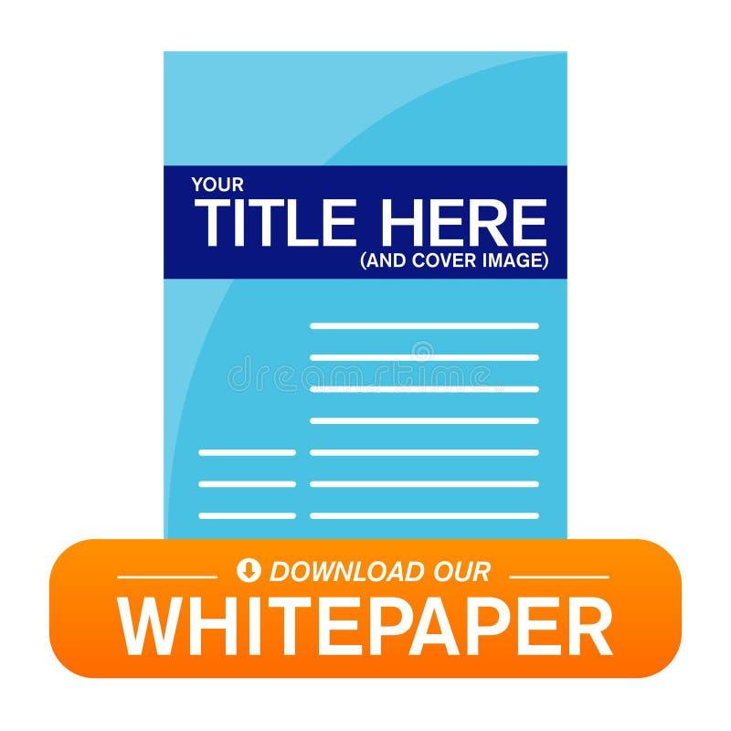 下载Whitepaper或Ebook图表 皇族释放例证