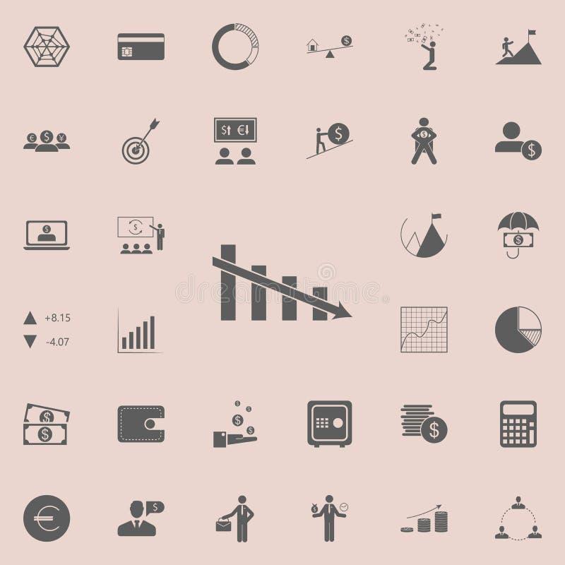 下降的图象 详细的套财务象 优质质量图形设计标志 其中一个网站的汇集象 皇族释放例证