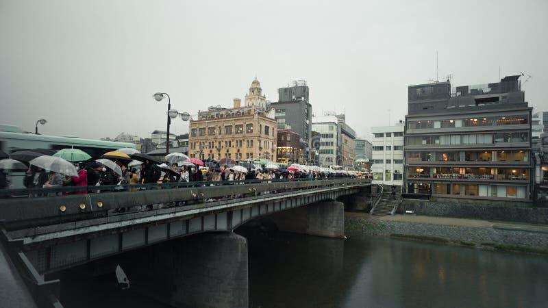 下雨在京都,日本 图库摄影