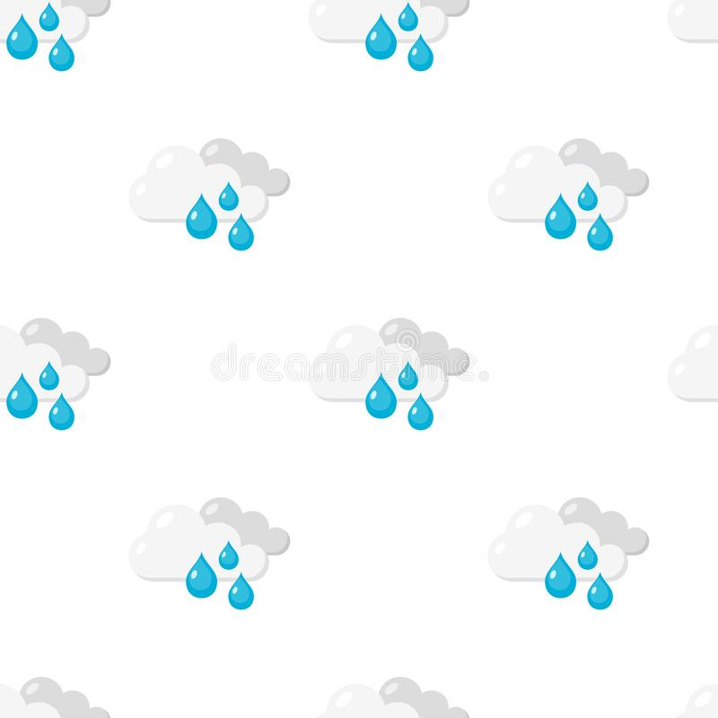 下雨天平的象无缝的样式 皇族释放例证