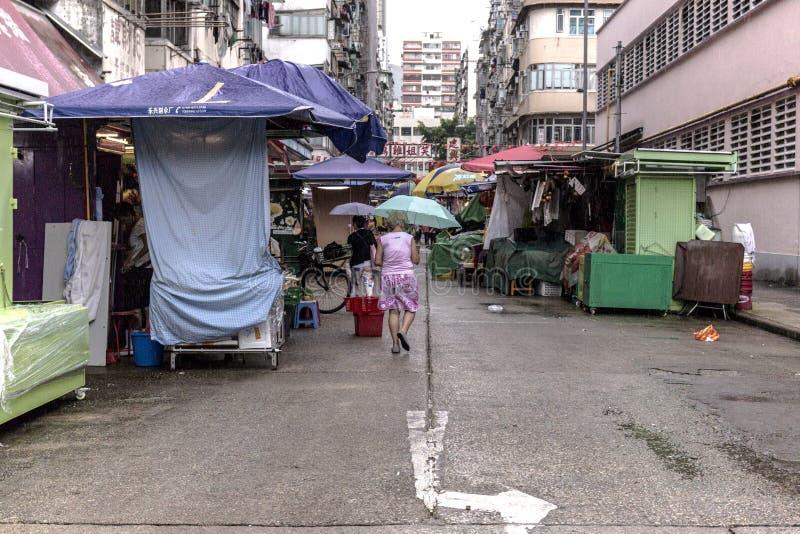 下雨市场 免版税库存图片
