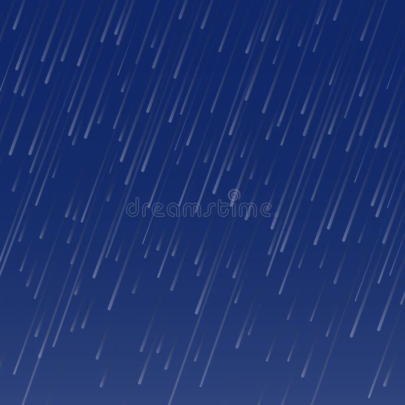 下雨秋天天气无缝的样式的传染媒介 皇族释放例证