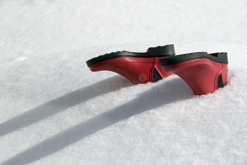 下雪下 库存图片