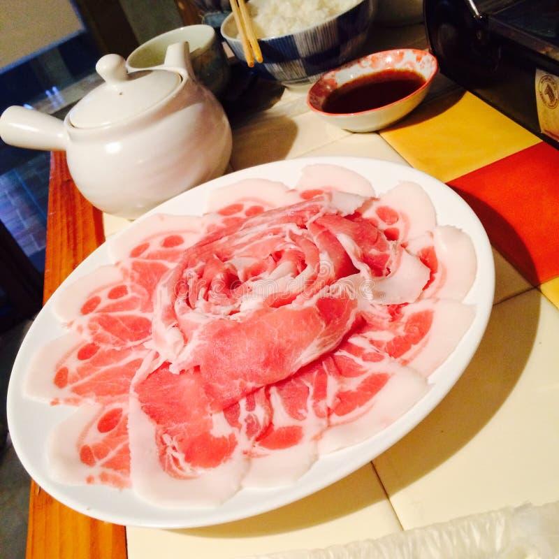 下滑猪肉 免版税图库摄影