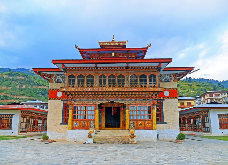不丹佛教寺庙在Paro,不丹 库存图片
