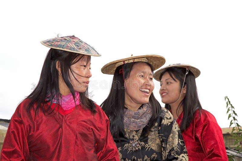 不丹妇女画象,廷布,不丹 库存图片