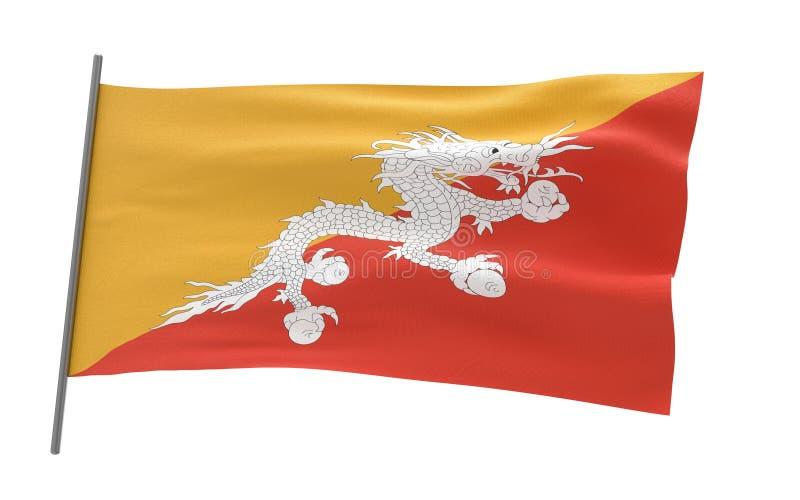 不丹的旗子 皇族释放例证