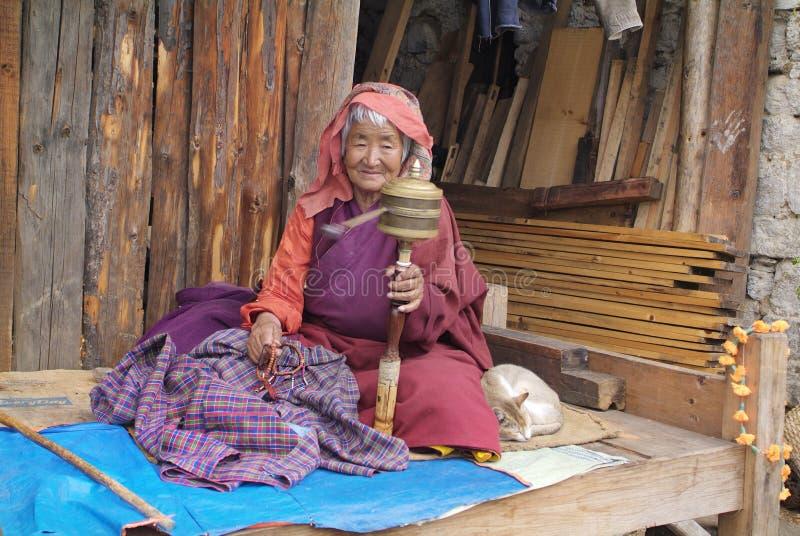 不丹,人们 免版税库存照片