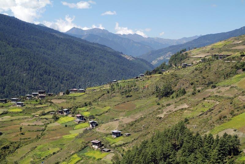 不丹, Haa,风景 图库摄影