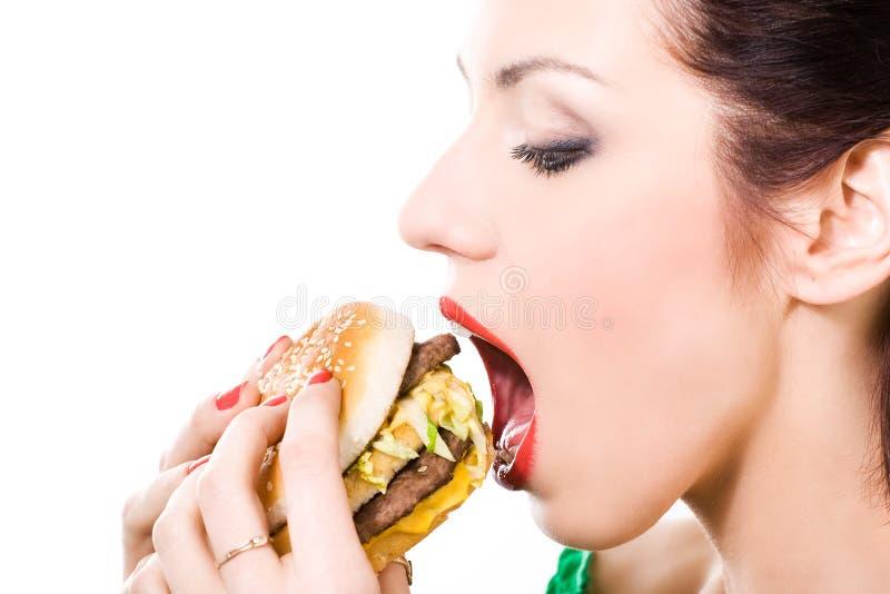 不健康的食物 免版税库存照片
