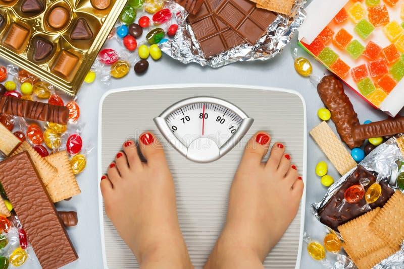 不健康的饮食-超重 免版税库存图片