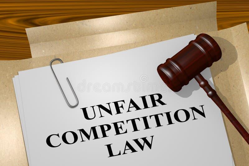不公平竞争法律概念 库存例证
