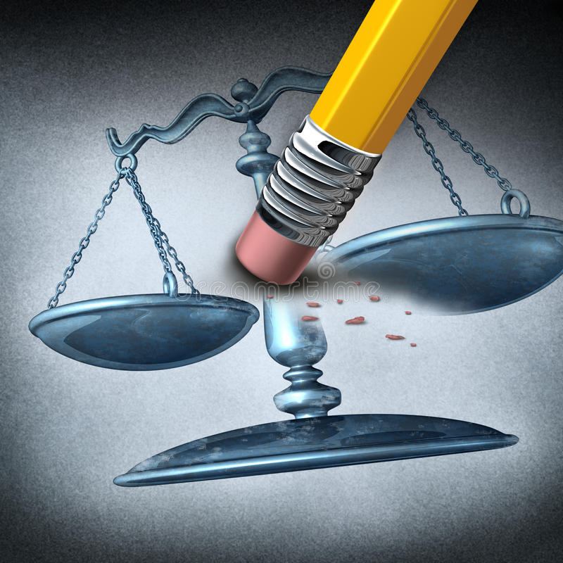不公道和歧视 向量例证