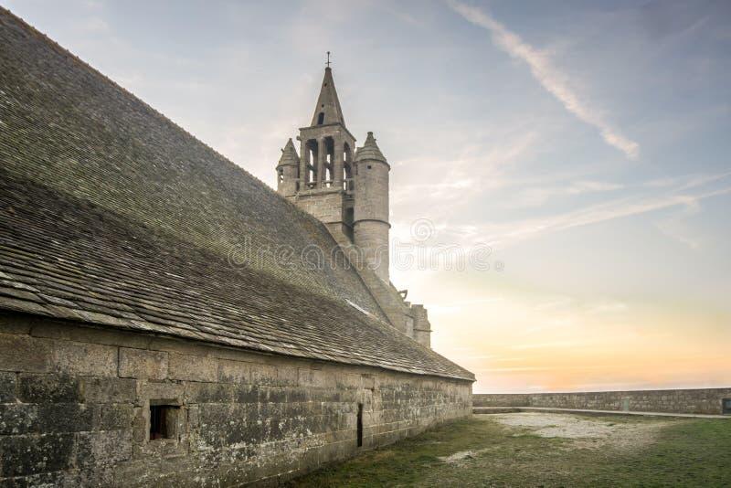 不列塔尼人的,法国中世纪教会 免版税库存图片