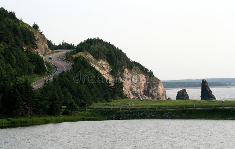 不列塔尼的海角汽车高速公路 库存照片