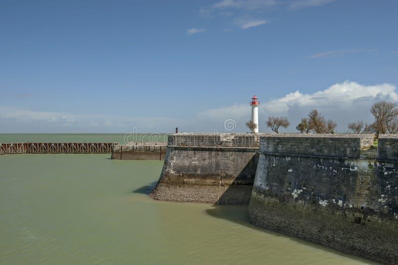 不列塔尼的港口 库存照片