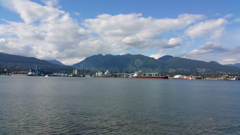 从不列颠哥伦比亚省加拿大的山 库存照片