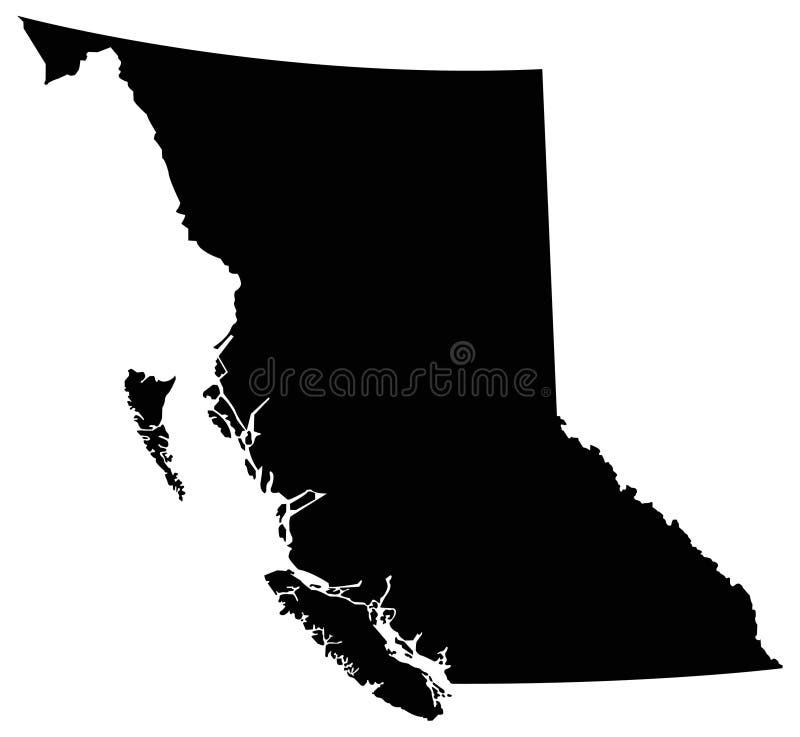 不列颠哥伦比亚省地图-省在加拿大 向量例证