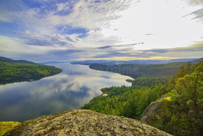 不列颠哥伦比亚省温哥华岛枫湾风景 免版税库存照片