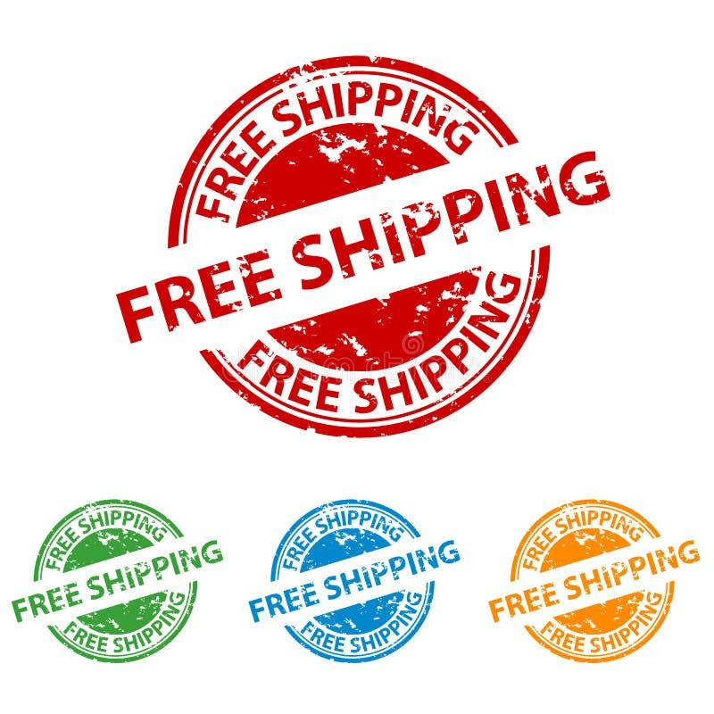 不加考虑表赞同的人封印-自由运输-五颜六色的传染媒介集合 库存例证