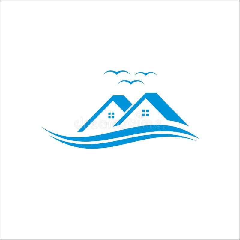 不动产、物产和建筑商标设计传染媒介 向量例证