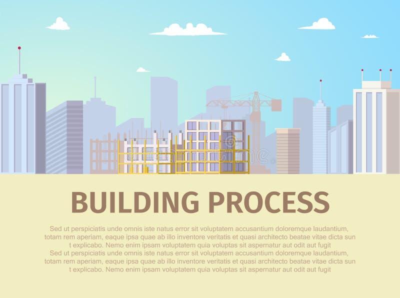 不动产建筑项目平的传染媒介网页 向量例证