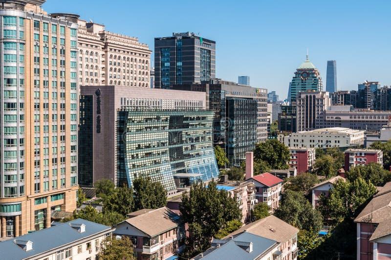 不动产开发在北京-东城区-中国 库存照片