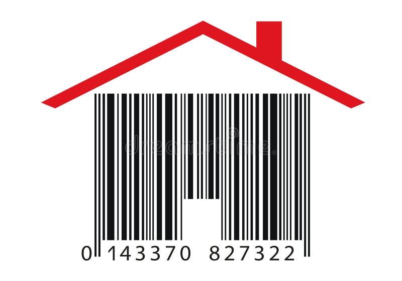 不动产购买由一个酒吧型房子象征了 库存例证