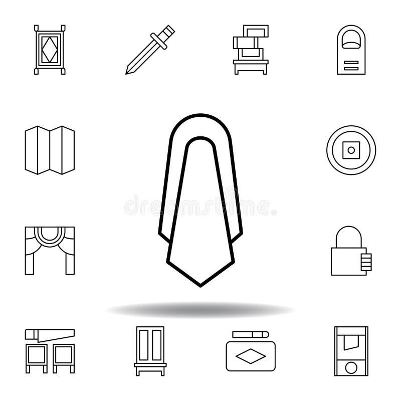 不可思议的丝绸概述象 不可思议的例证线象的元素 标志,标志可以为网,商标,流动应用程序,UI,UX使用 向量例证