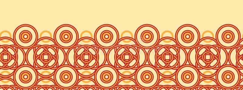 不可思议的凯尔特圈子水平的无缝的样式 皇族释放例证