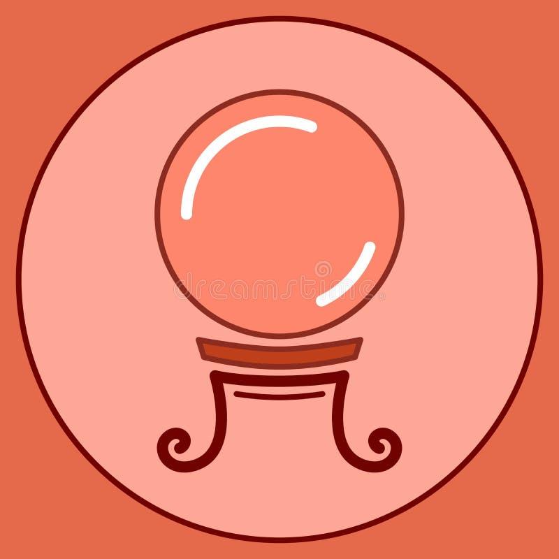 不可思议的占卜线传染媒介例证算命水晶球  向量例证