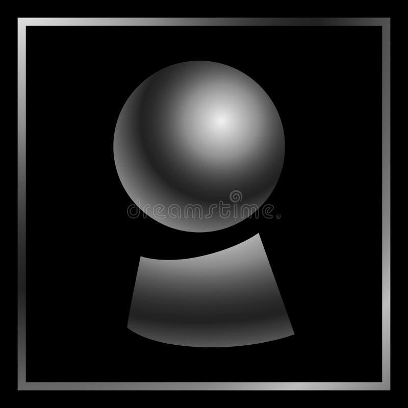 不可思议的占卜线传染媒介例证算命水晶球  库存例证