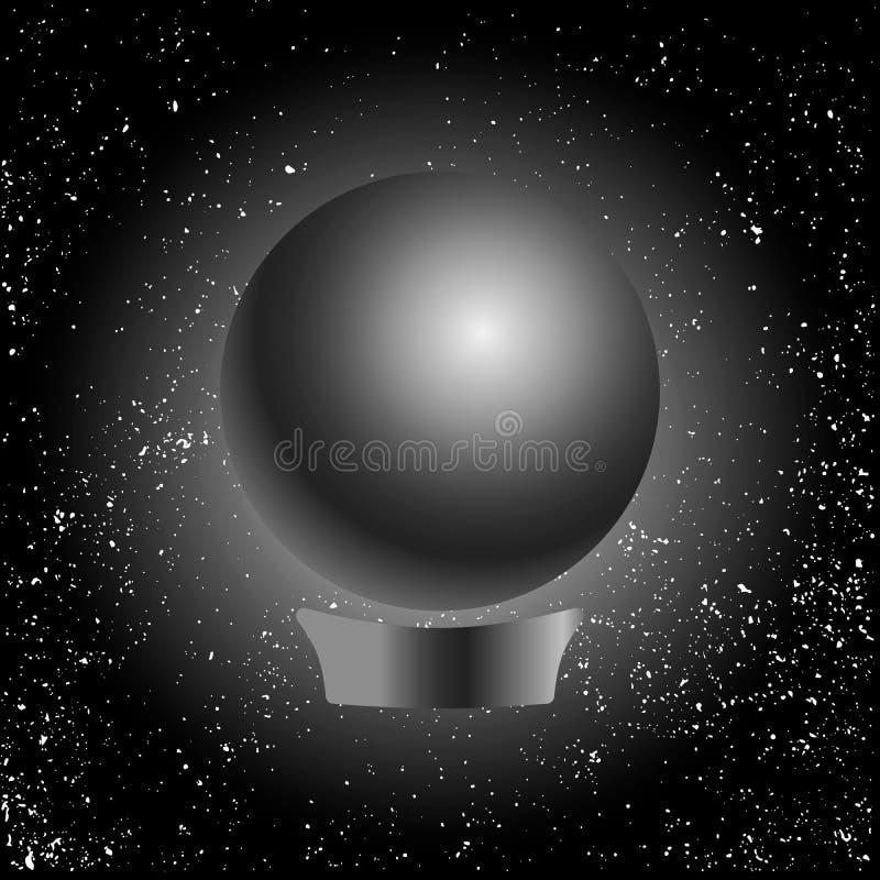 不可思议的占卜线传染媒介例证算命水晶球  皇族释放例证