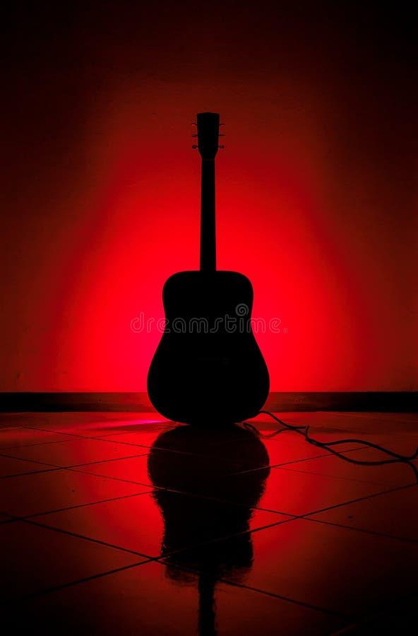 不可思议的吉他 库存图片