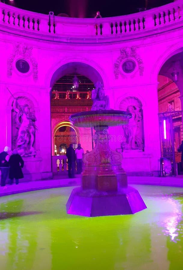 不可思议的喷泉利昂 库存照片