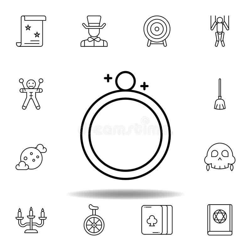 不可思议的圆环概述象 不可思议的例证线象的元素 标志,标志可以为网,商标,流动应用程序,UI,UX使用 库存例证
