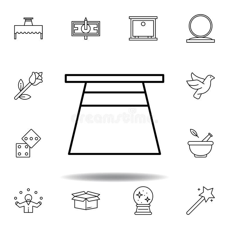 不可思议的帽子概述象 不可思议的例证线象的元素 标志,标志可以为网,商标,流动应用程序,UI,UX使用 皇族释放例证