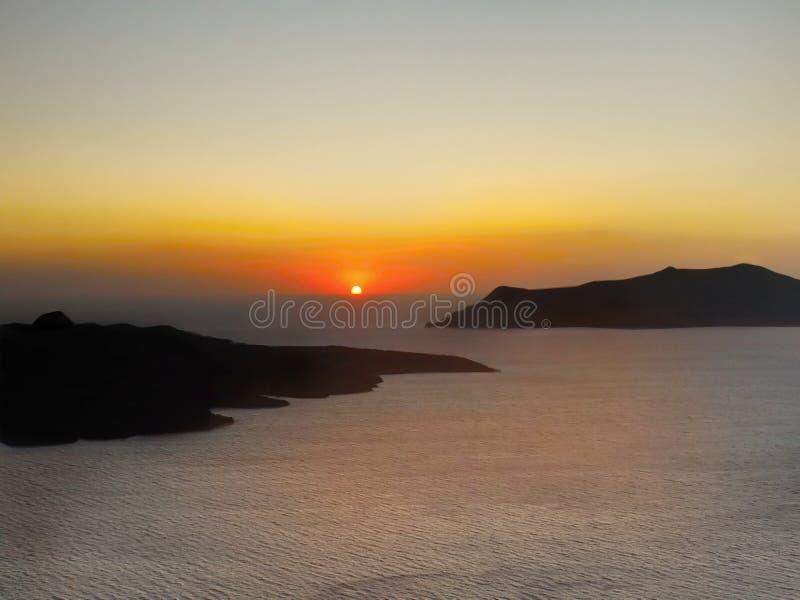 不可思议的日落风景 库存照片